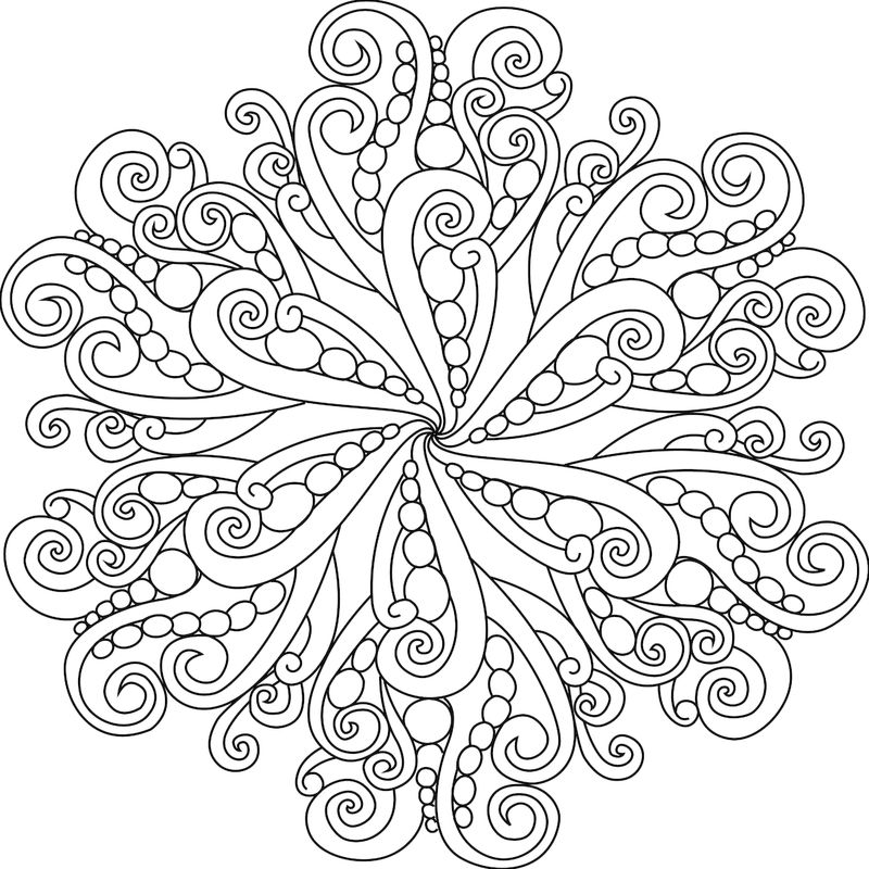 Simple Mandala Coloring Page Printable