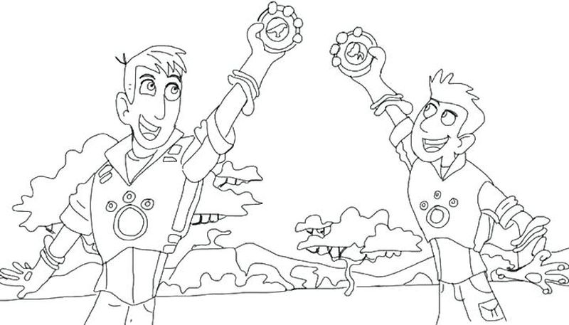 Wild Kratts Coloring Pages Creature ShirtPrintable