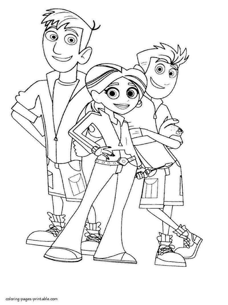 Wild Kratts Coloring Pages Online Printable
