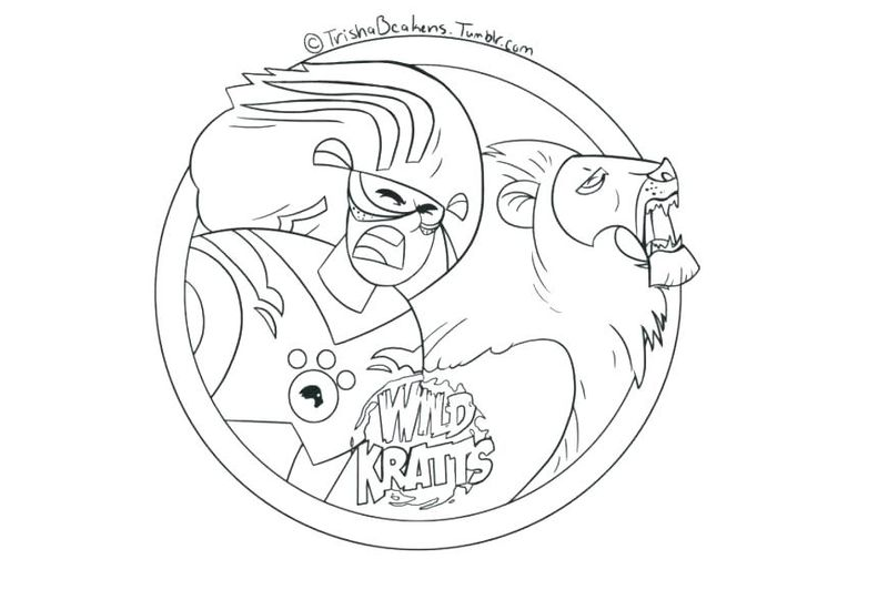 Wild Kratts Free Printable Coloring Pages