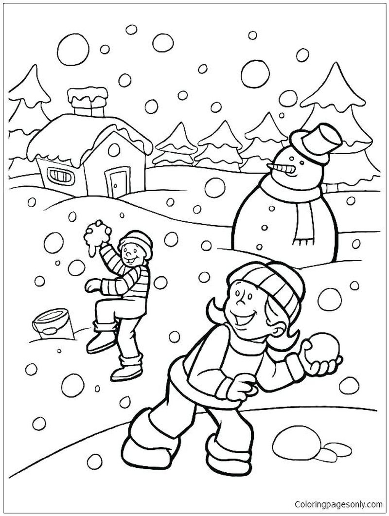 Winter Holiday Coloring Pages Free Print