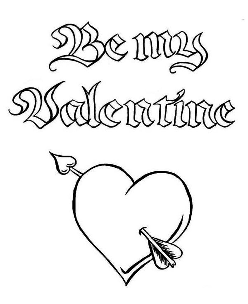 adult coloring pages valentines