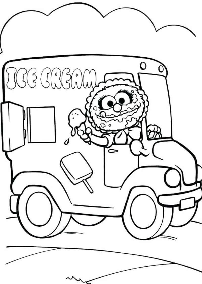 animal muppet babies coloring pages