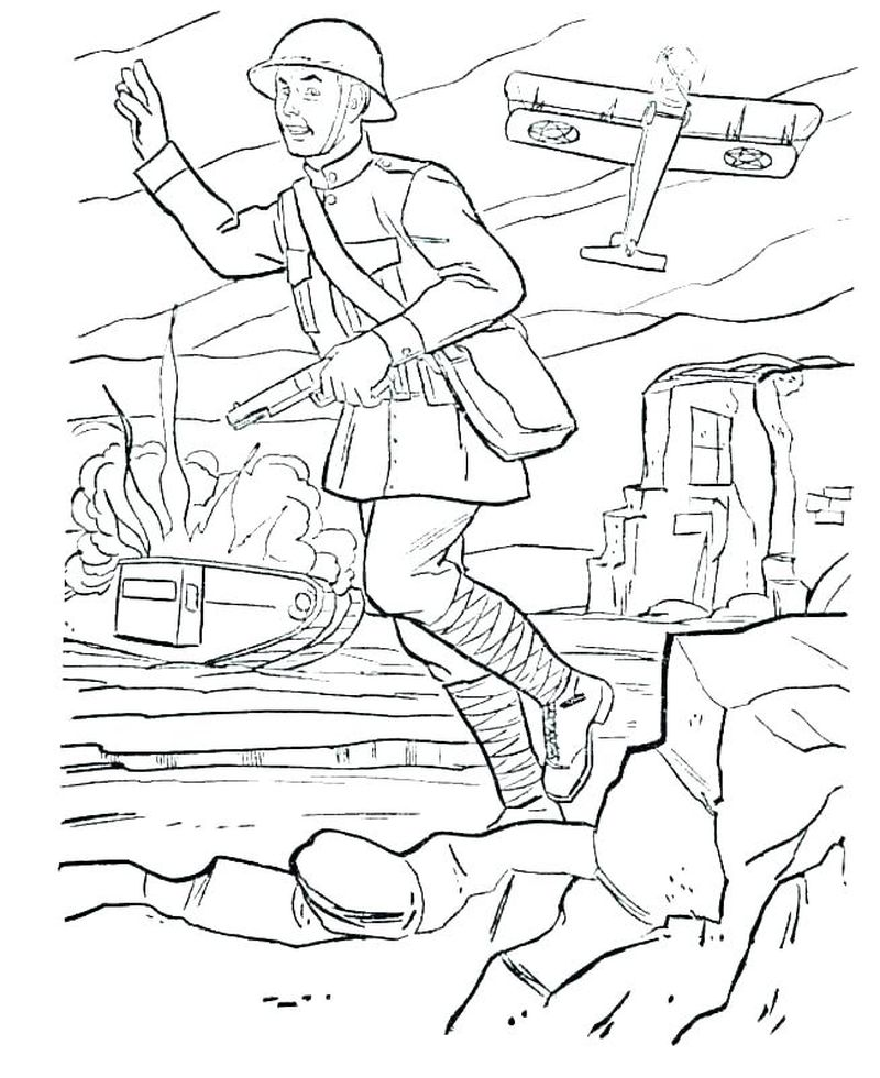 army christmas coloring pages