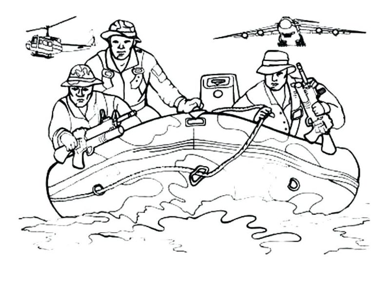 army coloring book pages