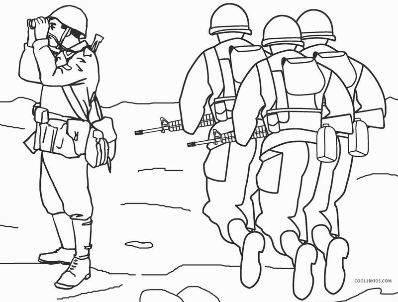 army coloring pages for kids