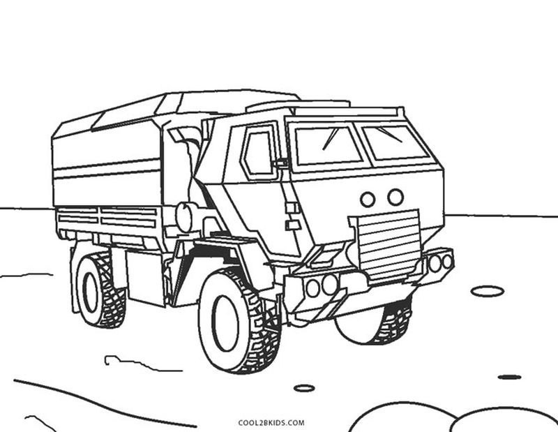 army jeeps to coloring pages