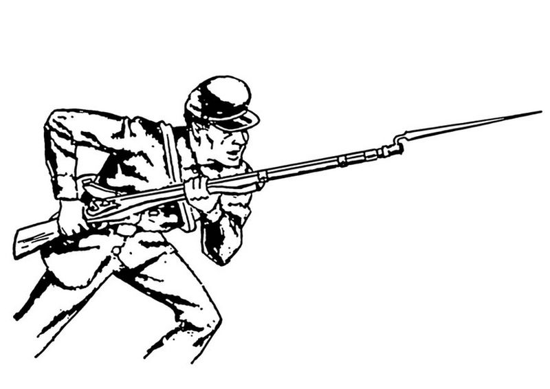 army kid coloring pages