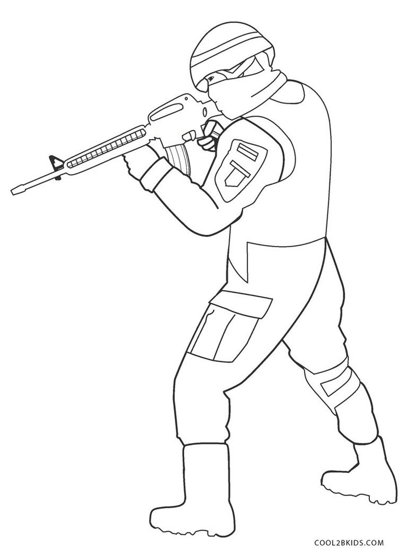 army men coloring pagesPrintable