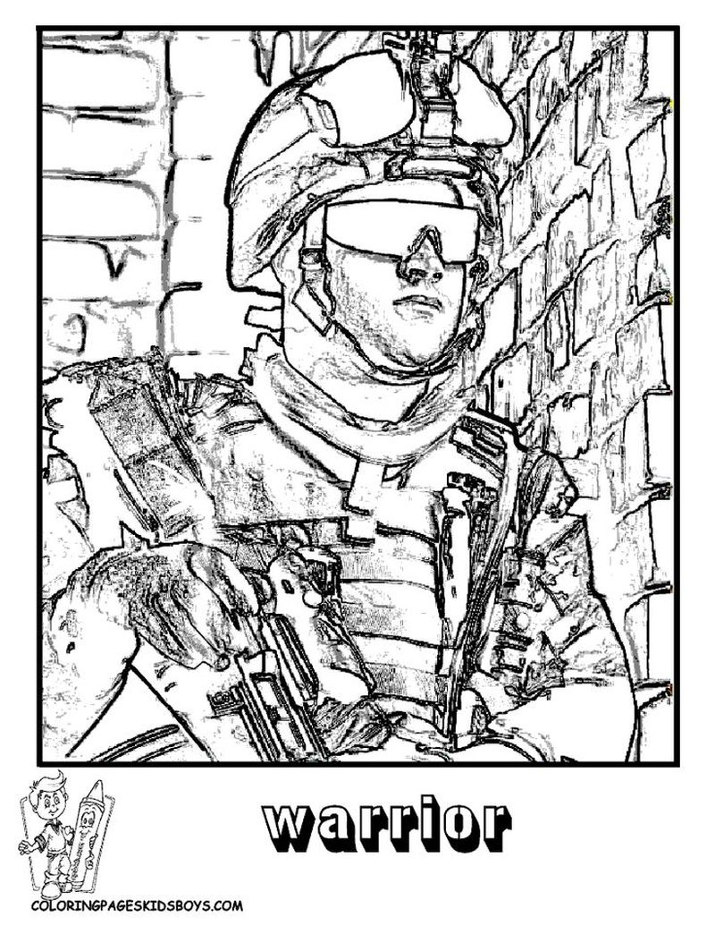 army soldier coloring pagesPrintable