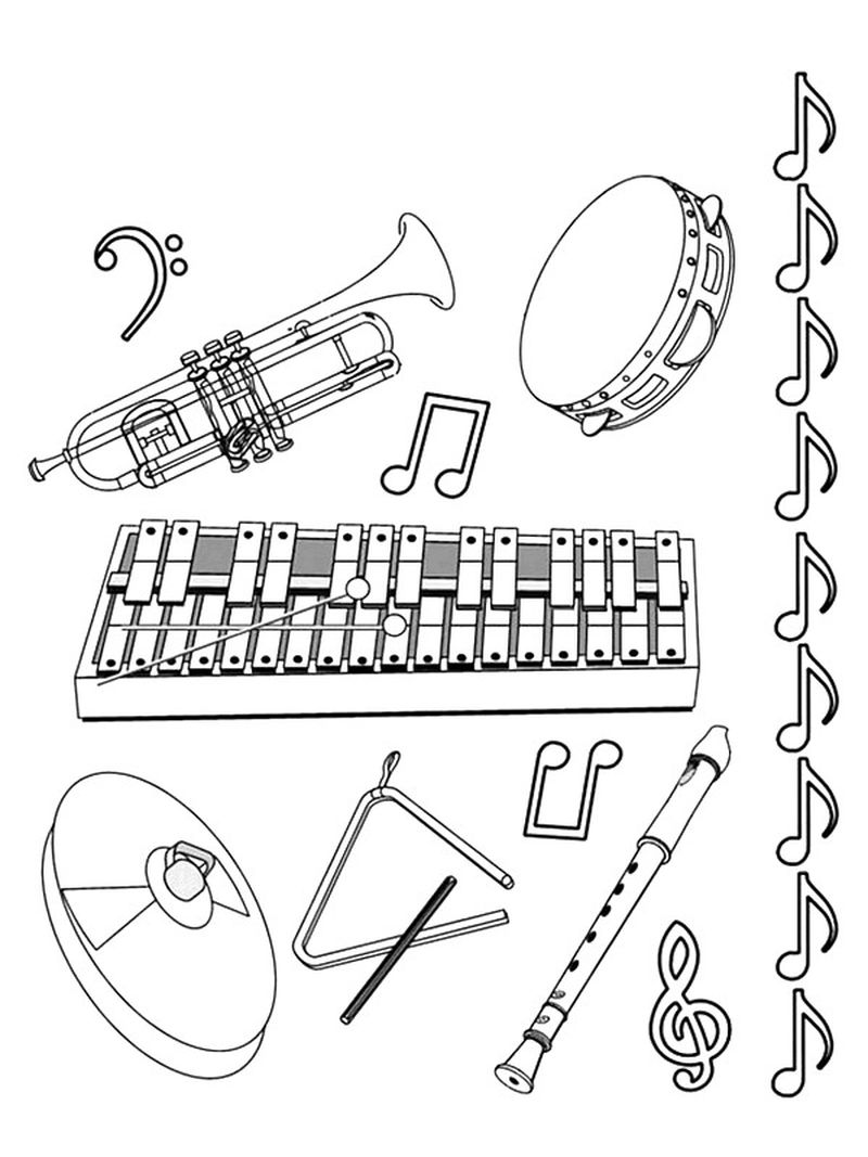 barbie music coloring pages