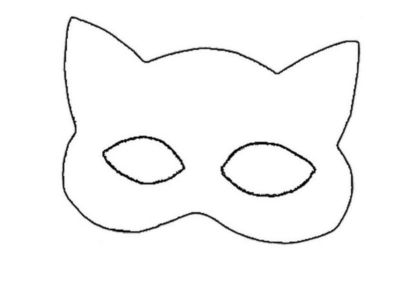 bear mask coloring page