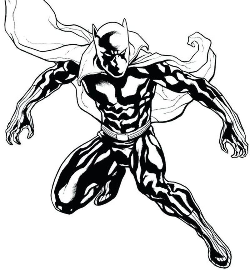 black cat marvel coloring pages