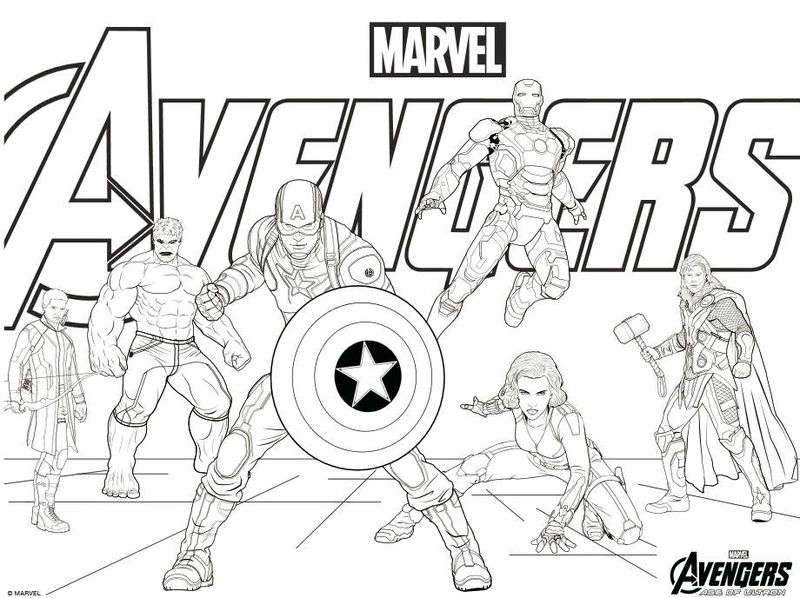 black widow marvel coloring pages