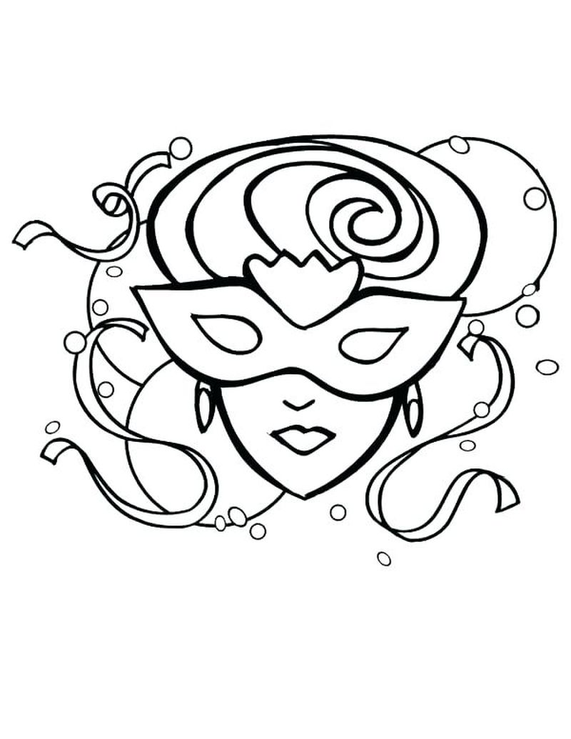 blank mask coloring page