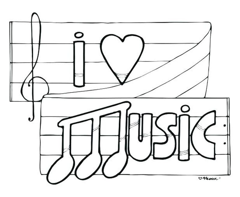 blues music coloring pages