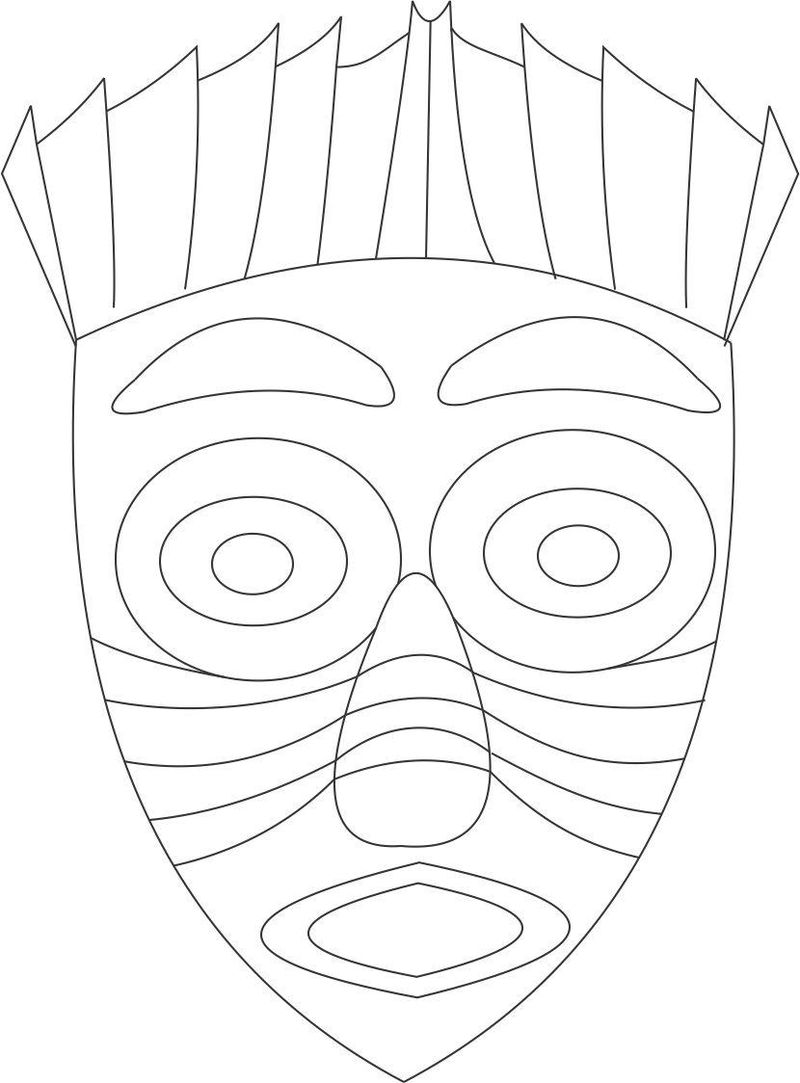 carnival mask coloring page