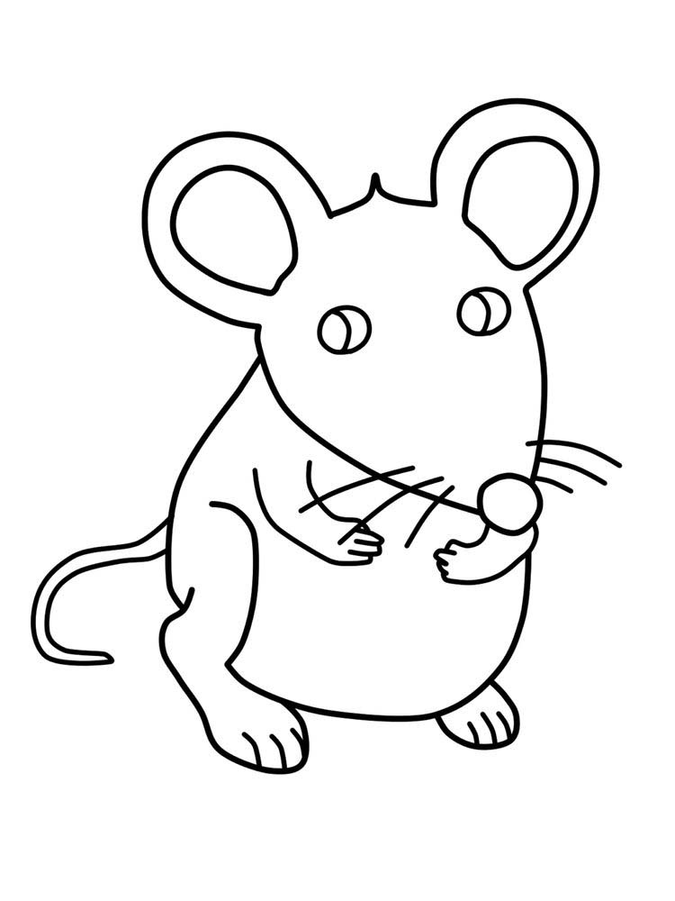 cartoon mouse coloring page Printable