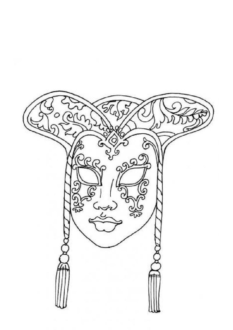 cat mask coloring page