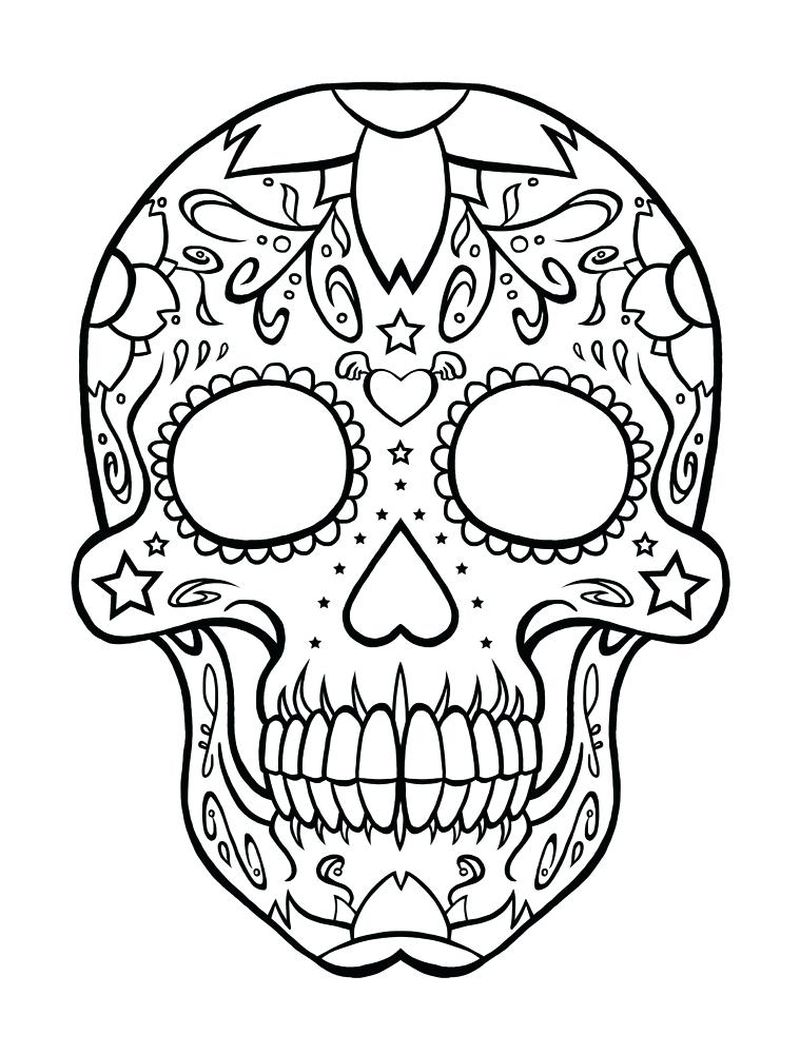 child and adult skeleton coloring pages