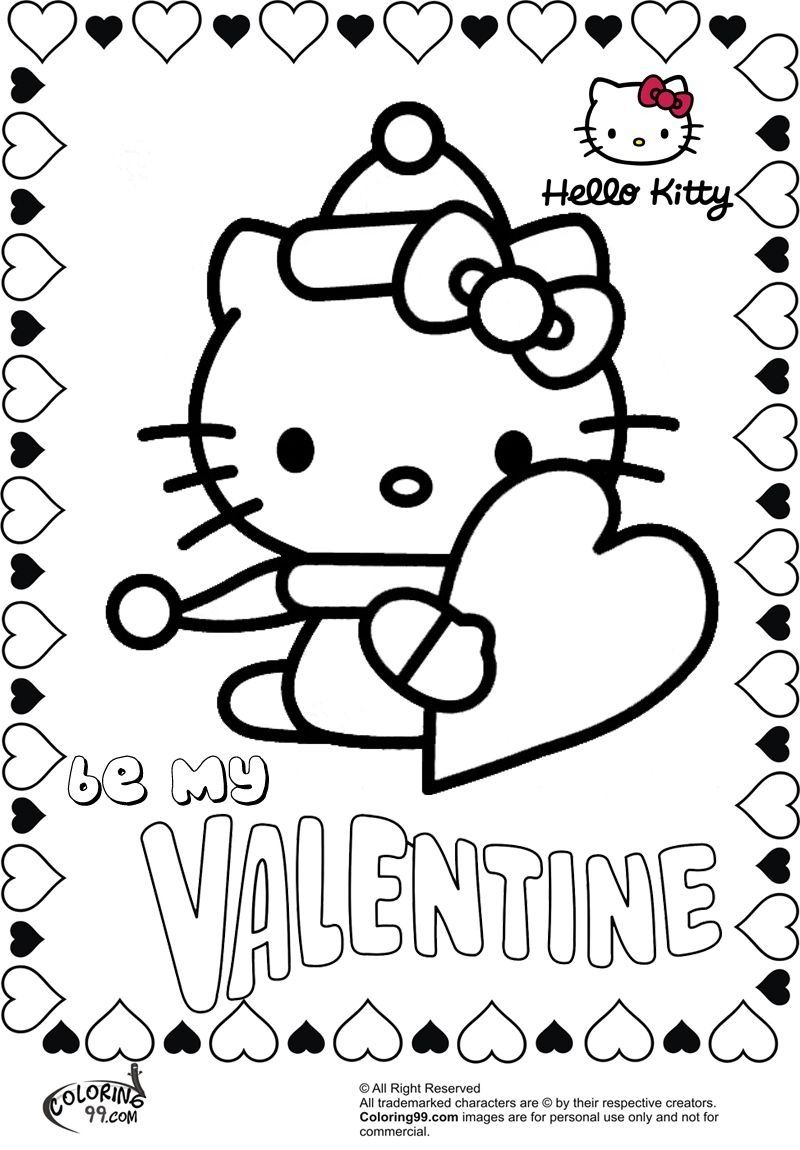 childrens valentines coloring pages