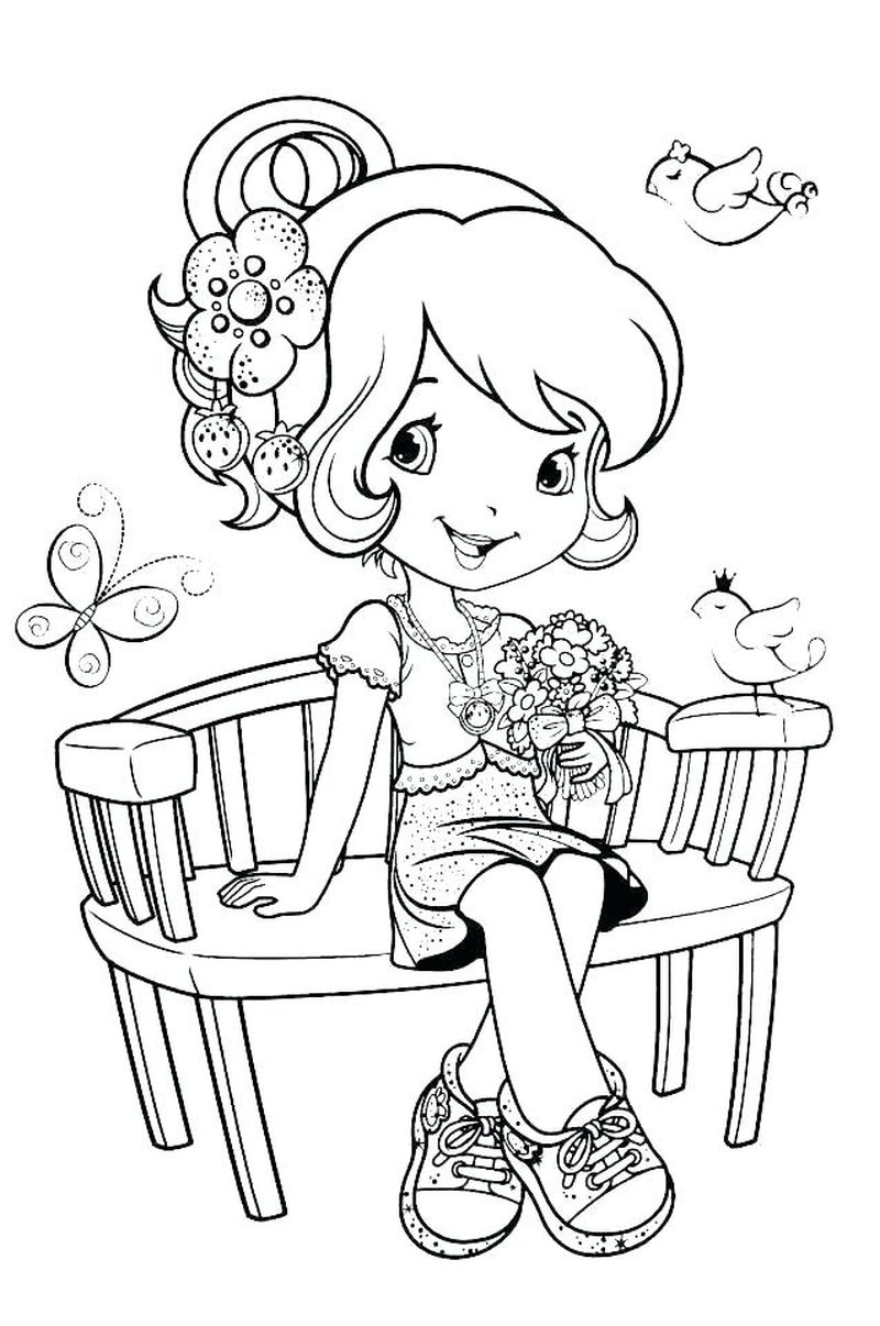 christmas coloring pages strawberry shortcake