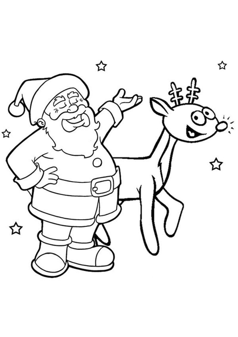 christmas rudolph the red nose coloring pages for kids
