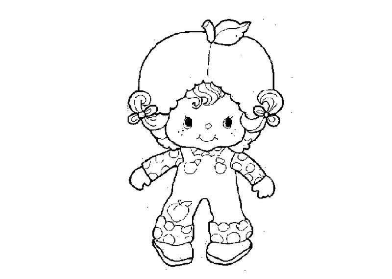 christmas strawberry shortcake coloring pages