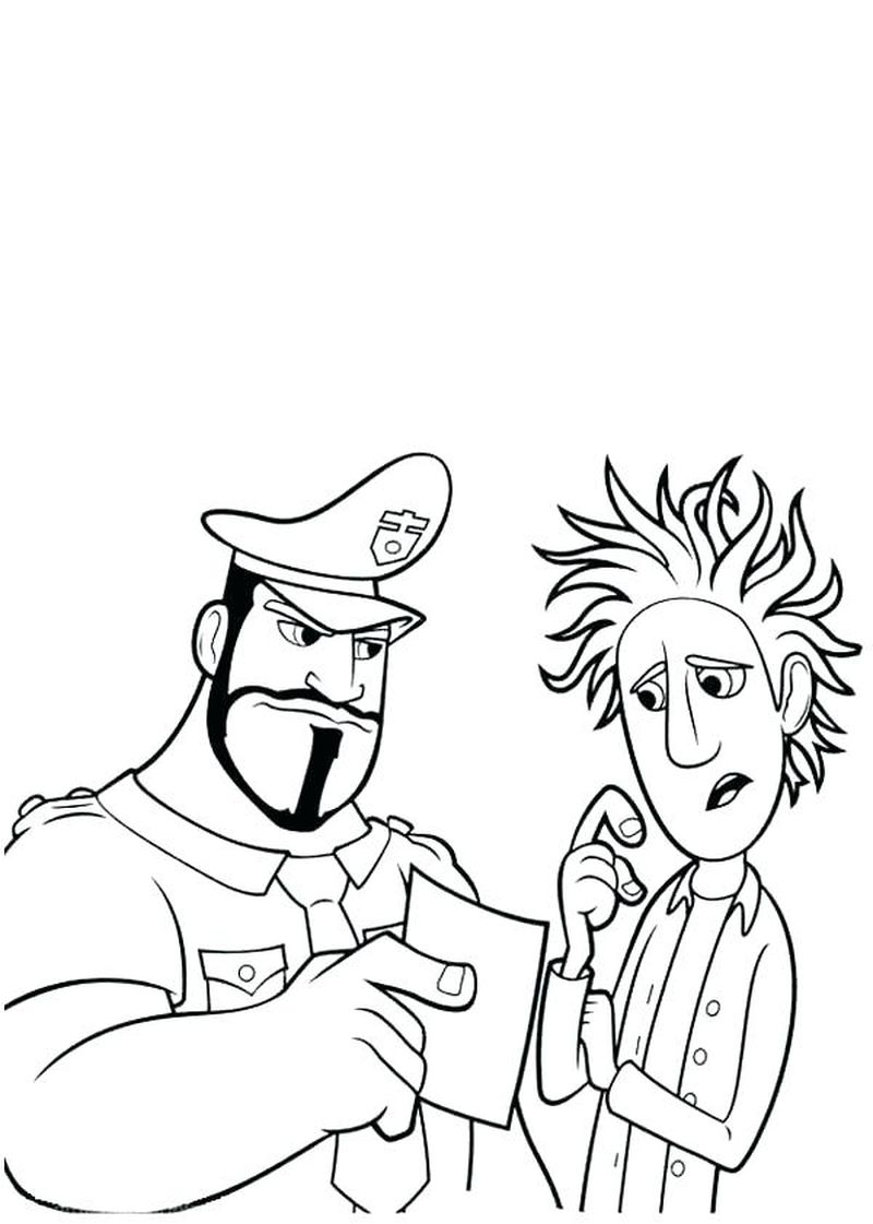 cloudy with a chance of meatballs 2 coloring pagesPrintablePrintable