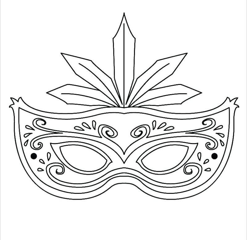 clown mask coloring page