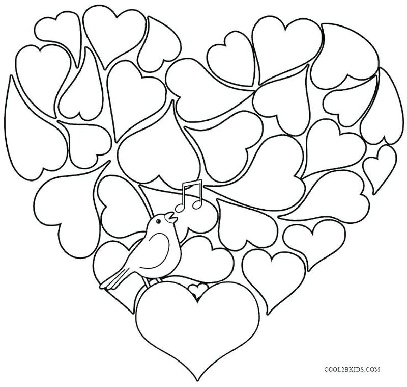 coloring book pages for valentines day