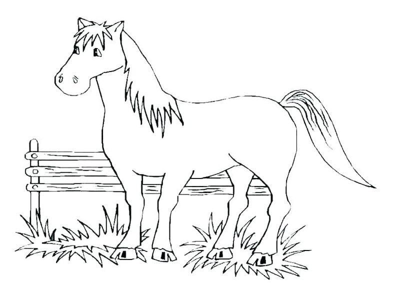 coloring horse pictures printable