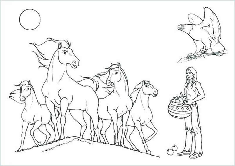 coloring horse pictures