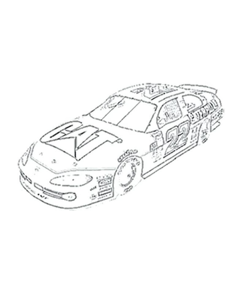 coloring page nascar Printable