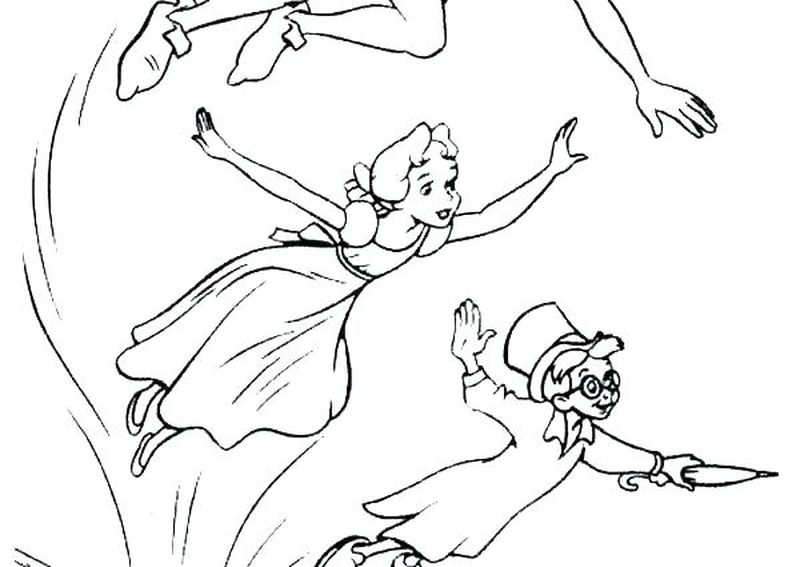 coloring page of peter pan