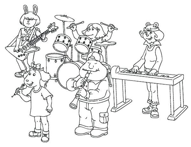 coloring pages about music