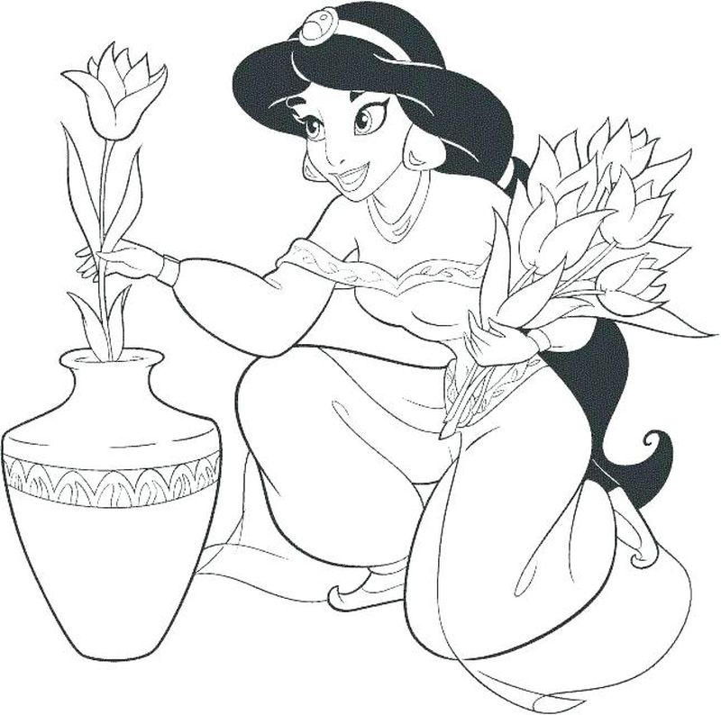 coloring pages aladdin print