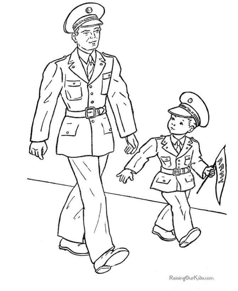 coloring pages armyPrintable