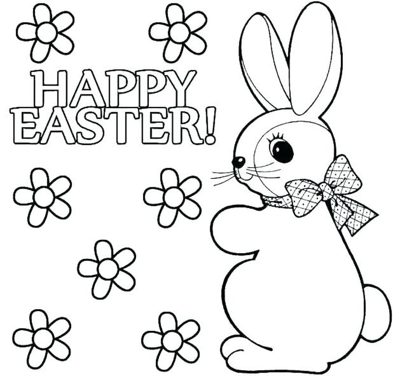 coloring pages easter bunny dyeing egg