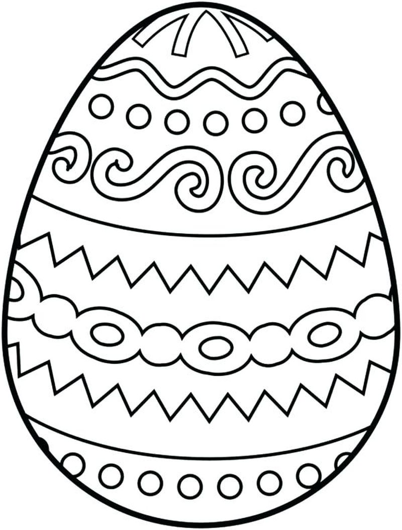 coloring pages easter egg