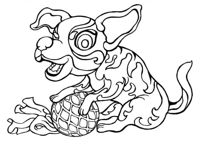coloring pages for dogs Print