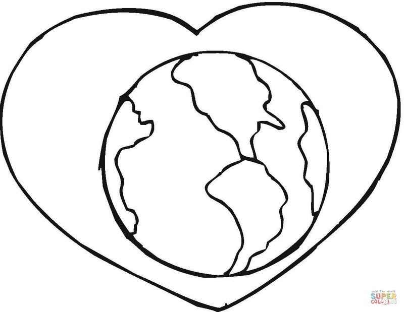 coloring pages for kids earth day