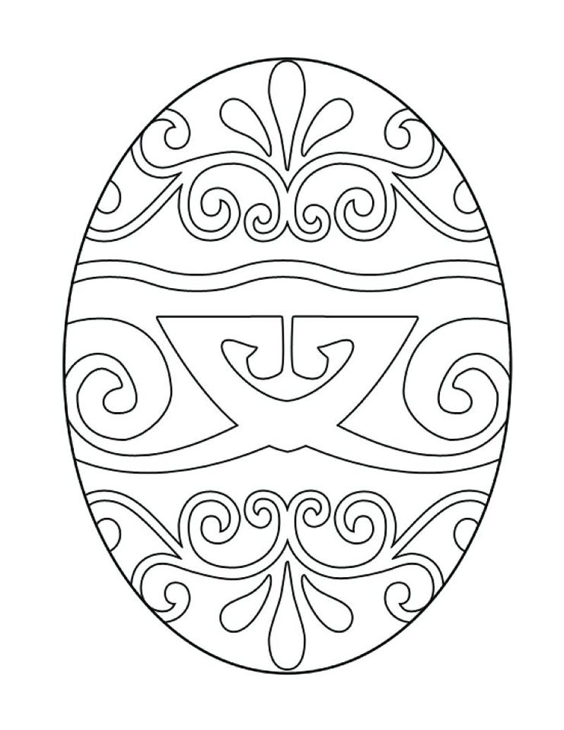 coloring pages for kids easter egg