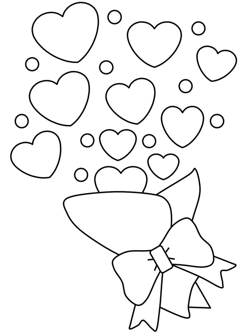 coloring pages for valentines printable