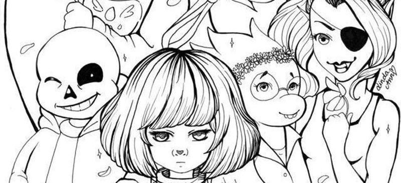 coloring pages from undertale