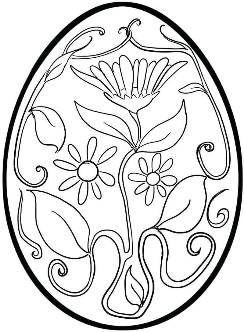 coloring pages of a easter egg that is hard
