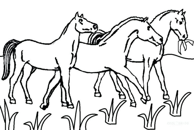 coloring pages of a horse printable