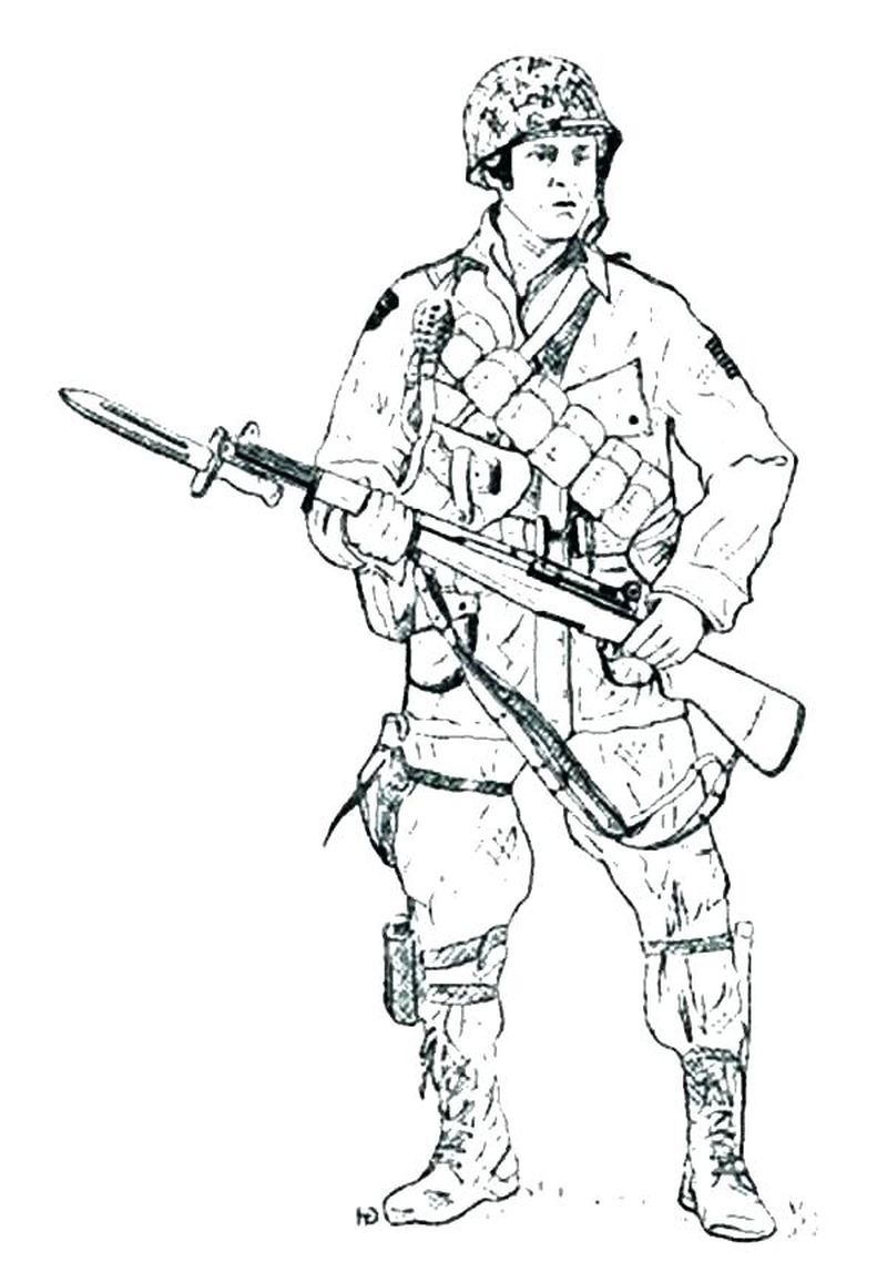 coloring pages of army Printable