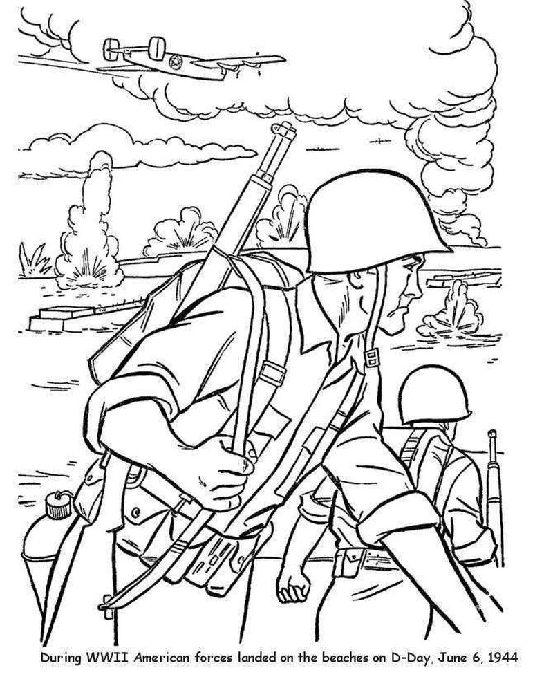 coloring pages of army guy