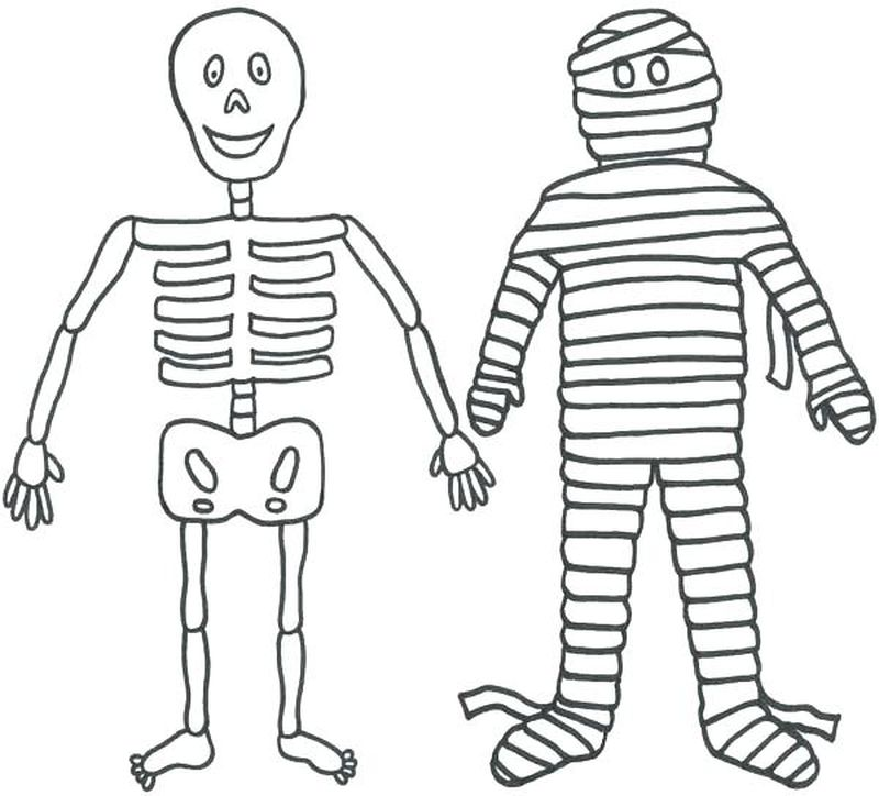 coloring pages of broken skeleton hand